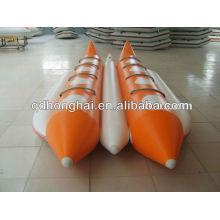 Barco de banana duplo tubos
