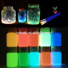 heißes Glühen in dunklem Pigment, leuchtendes Pulver, leuchtendes Pigment