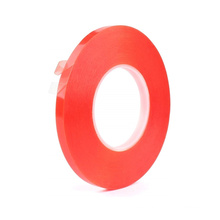 Free sample strong adhesive double sided pet tape with red mopp film for automobile ABS plastic parts