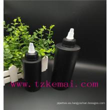 botella plástica del animal doméstico del color botella plástica del animal doméstico de la botella botella del cuentagotas del aerosol del animal doméstico con la tapa superior señalada blanca