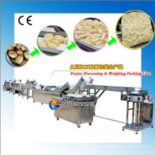 Full-Automatic Potato Washing Peeling Polishing Cutting Weighting Packing Production Line