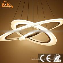 Luz conduzida moderna residencial do diodo emissor de luz do pendente redondo dos anéis do diodo emissor de luz três