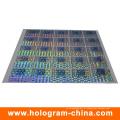 Anti-falsificação 3D Laser holograma etiqueta com impressão de tela