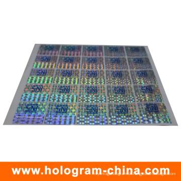 Anti-Fälschungs-Sicherheits-Siebdruck-Hologramm-Aufkleber