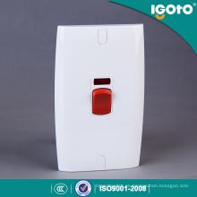 Interruptor de pared de polo doble con aire acondicionado 45A con neón
