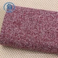 Tejido de punto suéter de lana cálida 100% poliéster