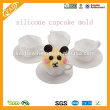BPA libre, molde antiadherente de la magdalena del silicón, molde de la hornada del silicón, trazador de líneas de la hornada del silicón
