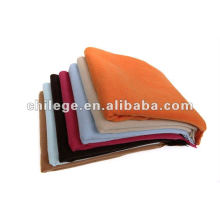 high quality woven solid color cashmere bed throw blankets