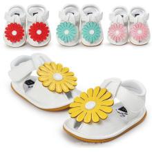Neue Mode Baby Mädchen Blumen Weiche Sohle Anti-Slip Sandalen Mokassins