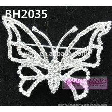Simple épingle à cristal papillon