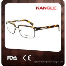 New tortoise very top style Men acetate eyeglasses, acetate combined with metal optical frames