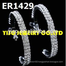 round jewelry rhinestone earrings