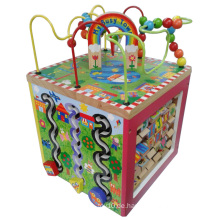 My Busy Town Pädagogische Kinder Wooden Multi 5 Way Playing Activity Cube Spielzeug