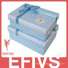 Caixas de jóias de papel de moda para anel de dedo, colar, brinco, caixa de presente
