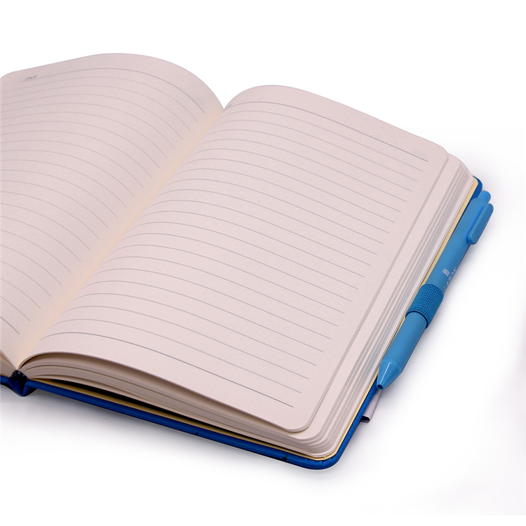 A5 Hardcover Custom Leather Notebook With Pen Holder