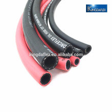 NBR synthetic black smooth surface braided rubber oil / fuel hose