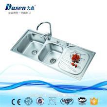 Dasen zum Verkauf 1100 * 460 3 Fach Waschbecken einteilige Toilette mit Spüle oulin Spüle Küche