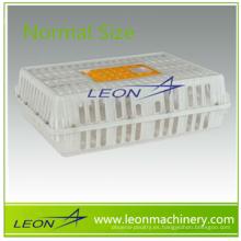Jaula plástica de la transferencia del pollo de la puerta de apertura de empujar-tirar de la venta caliente de Leon