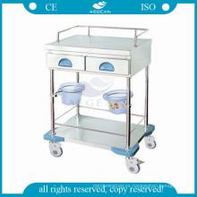 AG-MT035 Mueble de la clínica movible enfermera estación de trabajo móvil carro médico