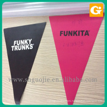 Custom shape triangle machine cutting flex vinyl banner