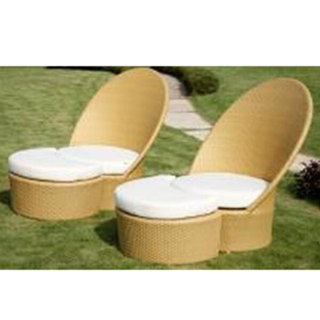 H- China Rattan Sunbed for Outdoor Patio Wicker Furniture