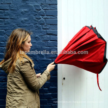 Pongee Fabric windproof promotion inside out car reverse umbrella