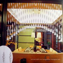 Home Dekor unregelmäßigen Kristall Perlen Vorhang für Küche