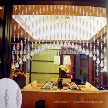 Décoration intérieure rideau en cristal irrégulier rideau pour cuisine