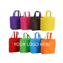 custom Colors your logo non-woven tote bags Eco reusable Non Woven shopping bag for grocery