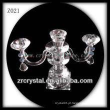 Suporte de vela de cristal popular Z021