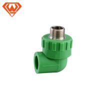 20мм - 110мм зеленый цвет трубы PPR наружная резьба локоть