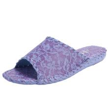 Women Slippers Indoor Lace Design Comfort Shoes Room Wear