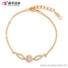 Elegante CZ Diamond pulsera de joyería de imitación chapada en oro para las mujeres - 74134