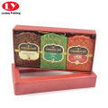 Tea Box Red with Lid and Clear Window