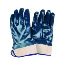Jersey Liner Handschuh mit Nitril voll getaucht, Safety Cuff