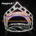 5-Zoll-Rainbow Crystal Crown