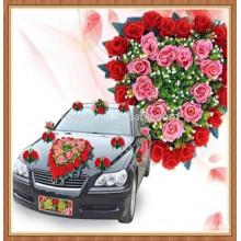 Fleur en plastique de voiture de demande élevée pour la décoration
