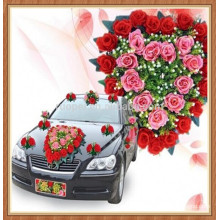 High Demand Plastic car Flower For Decoration