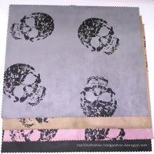 Skull Print Suede Fabric 2016