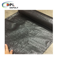Black Color Anti-grass Ground Cover Weed Barrier Fabric With Customized Size