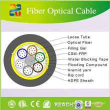 Cabo de fibra óptica do núcleo do cabo 24 de FTTH para o uso exterior