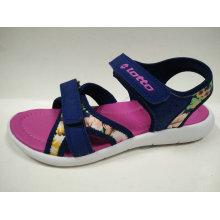 Zapatos de niños de impresión de flores de sandalias de verano de niñas