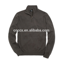 15JWT0119 man cotton half zip pullover sweater
