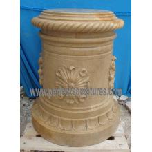 Pedestal de mármol de granito de piedra para plantador de flores de jardín (BA070)