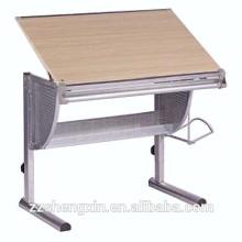 Uso doméstico Tabela de desenho em madeira de madeira ajustável