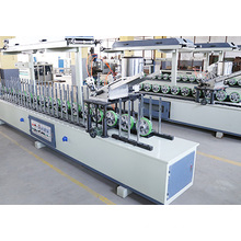 Woodworking PVC Profile Wrapping Machine with Scraping Coating Box