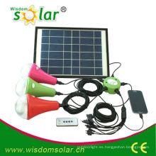 linterna solar con led bombilla solar, solar conducida linterna para el hogar