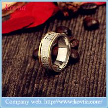 Jóias de ouro pesado desenhos mens snake padrão anéis de titânio aço O anel