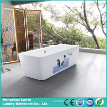 2016 New Design Printed Acrylic Freestanding Bath Tub (LT-3E)