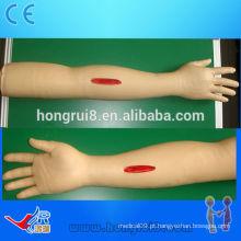 Modelo de braço de sutura avançado ISO, braço de treinamento de sutura